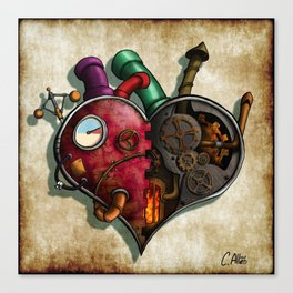 The Clockwork Heart Canvas Print
