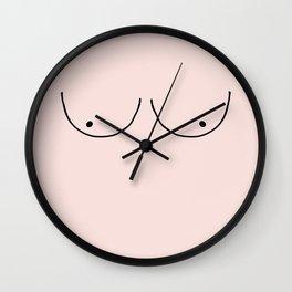 blush boobs Wall Clock