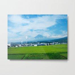 Fujisan By Train Metal Print