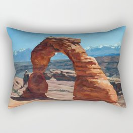 delicate arch Rectangular Pillow