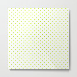 Dots (Lime/White) Metal Print