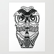 Wise Owl Art Print