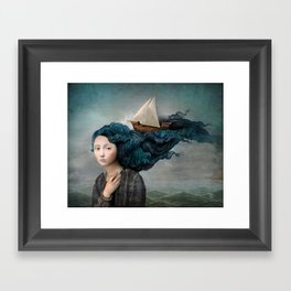 Message from the Sea Framed Art Print