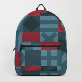 Checkered Geometric Pattern Backpack
