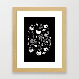 Herb Witch // Black & White Framed Art Print
