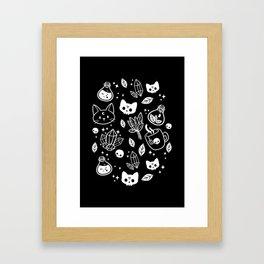 Herb Witch // Black & White Framed Art Print