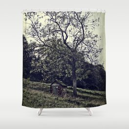 The Lonely Shed Shower Curtain
