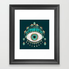 Teal Eye Framed Art Print