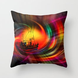 Our world is a magic - Time Tunnel 5 Throw Pillow