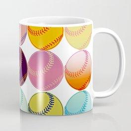 Pop Art Baseballs Coffee Mug