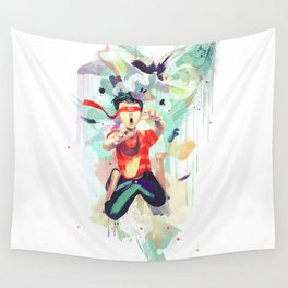 Pursuit of Happiness (Blindfolded) Wall Tapestry