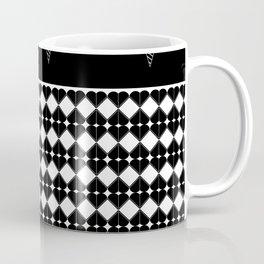 Black Stars Stripes Hearts Diamonds Coffee Mug