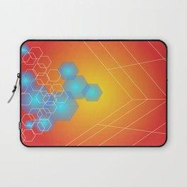 Hexagons background, hot gradients Laptop Sleeve