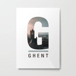 G-hent Metal Print