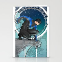 nightwing Stationery Cards featuring Nightwing Nouveau by stoopz