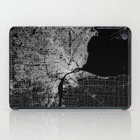 detroit iPad Cases featuring Detroit map  by Line Line Lines