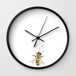 hey honey Wall Clock