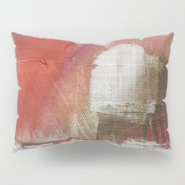 The Little Things: a minimal, abstract piece in reds and gold by Alyssa Hamilton Art Pillow Sham