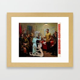 What happens in Russia Framed Art Print