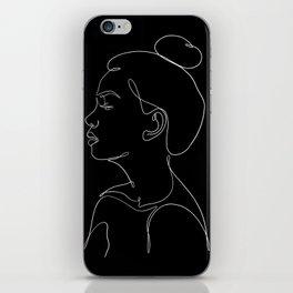 minimal line art - profile iPhone Skin