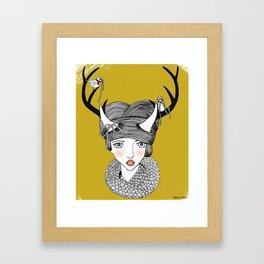 The Woodland Knitter's Club Framed Art Print