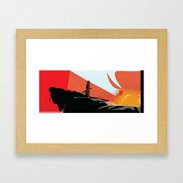 Samurai Sunset Framed Art Print