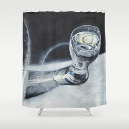 Glass of the water in the light Shower Curtain
