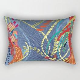 Abstract Stripes Rectangular Pillow