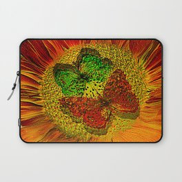 The flower of Love  (This Artwork is a collaboration with the talented artist Agostino Lo coco) Laptop Sleeve