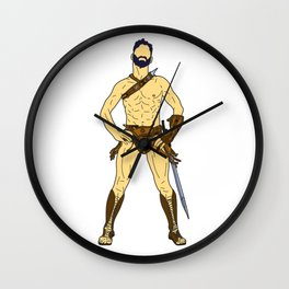 Gladiator Warrior 2 Wall Clock