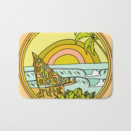 drifting to paradise surf art by surfy birdy Bath Mat