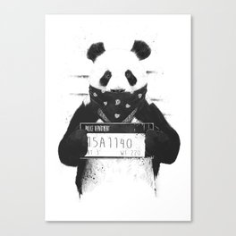 Bad panda Canvas Print