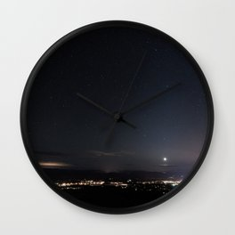 Arizona Desert Night Sky Stars Wall Clock