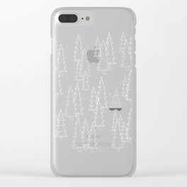 Lost in the wood, a lonely cabin (revers) Clear iPhone Case