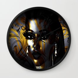 Gothic Art, Abstract Face Wall Clock