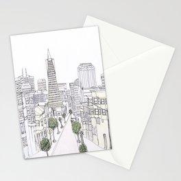 Pen + Ink SF City Scene Stationery Cards