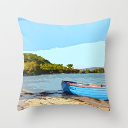 Isle of Scilly - Boat Throw Pillow