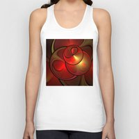 the shining Tank Tops featuring Shining Fractal by gabiw Art