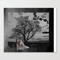 zombie Canvas Prints featuring zombie by Shea33