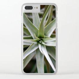 Plant Focus Clear iPhone Case