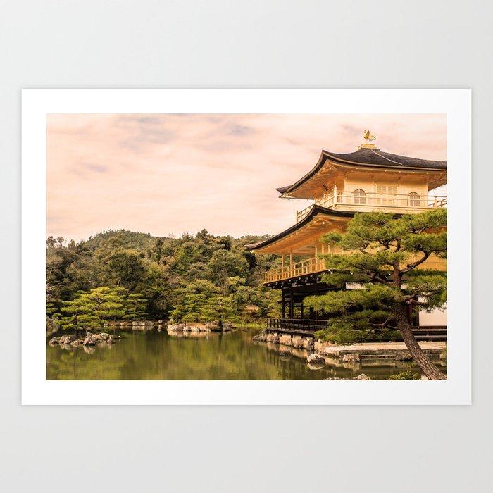 Gold Temple Kyoto Japan Photography ArtWork Art Print