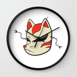 Kitsune Mask Wall Clock