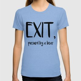 Exit, pursured by a bear - Shakespeare T-shirt