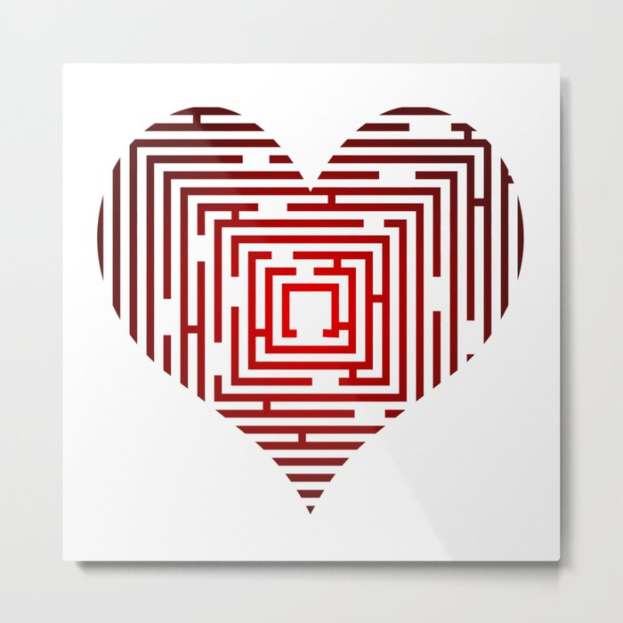 maze in the heart Metal Print