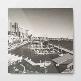 Gray Seattle Metal Print