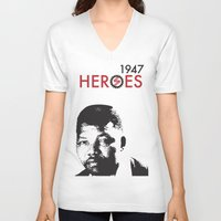 heroes V-neck T-shirts featuring HEROES by BALANCE 1947
