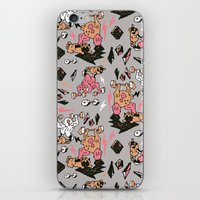 fitness iPhone & iPod Skins featuring Man & Pugs Fitness by Anukun Hamala (NHD)