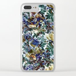Vintage Golden Poppies Pattern Clear iPhone Case