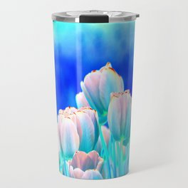 Tulips in Spring Abstract Travel Mug