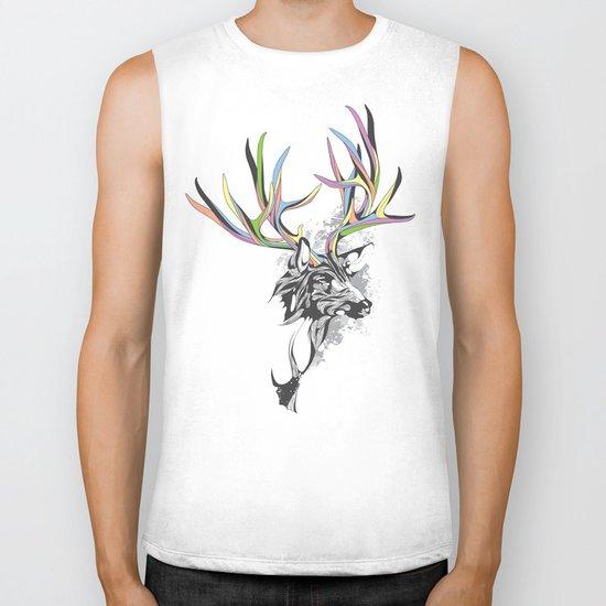 White-Tailed Deer Biker Tank